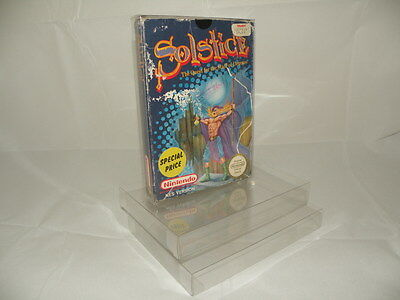 Nintendo NES Box Protectors - Maintain Your Collection! - 0.3mm PET - CHEAPEST!