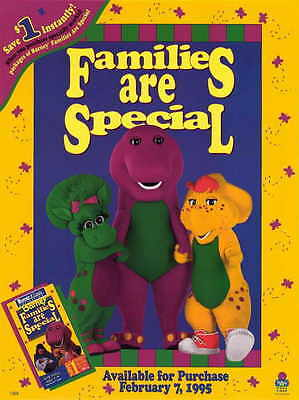 BARNEY: FAMILIES ARE SPECIAL TV MINI Promo POSTER