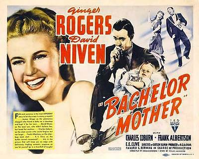 BACHELOR MOTHER Movie POSTER 11x14