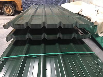 Brand New 16ft Box Profile Jupiter Green Roofing Sheets