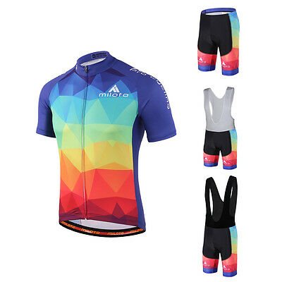 Colourful Cycling Short Kit Men's Reflective Cycle Jersey & (Bib) Shorts S-5XL