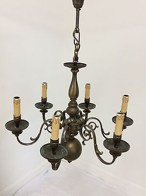Antique Style Flemish 6 Arm Chandelier