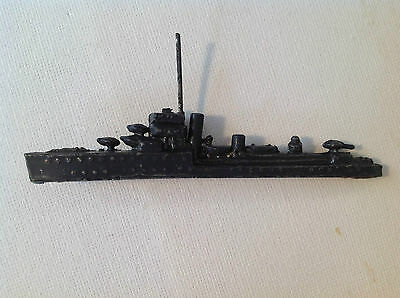 """Vintage Lead Ship - possibly Britains or John Hill & Co - 8.5cm / 3.25"""" long"""