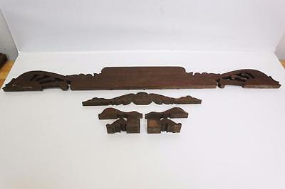 Antique Furniture Pediment Topper~Settee Parts Lot~Eastlake~Hand Carved Mahogany