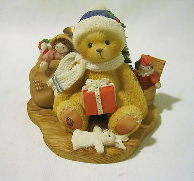 """Cherished Teddies Evan """"May Your Christmas Be Trimmed"""" Bear Figure ��"""