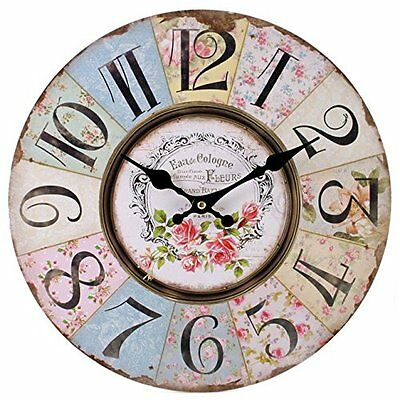 Jones Home and Gift Floral Patchwork Clock, Multi-Colour