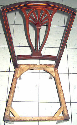 Antique?Mahogany?Edwardian?Victorian?Inlaid Occasional Chair for re-upholstery