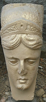Vintage Art Deco woman/hand carved
