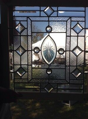 Beveled/Jeweled And Textured Window