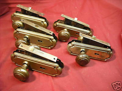 5 sets of passage door hardware