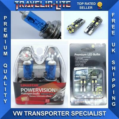 H4 Super White Bulbs 55W E Marked & Led Canbus 501 Side Lights 100% Quality