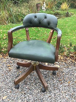 Vintage Button Back Office Swivel Chair