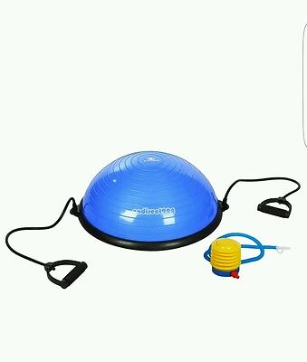 Half Ball Exercise Balance Trainer Yoga Fitness Workout Blue Pink + Pump Line