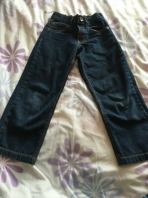 M&S Indigo Boys Dark Blue Jeans - Age 7 Years
