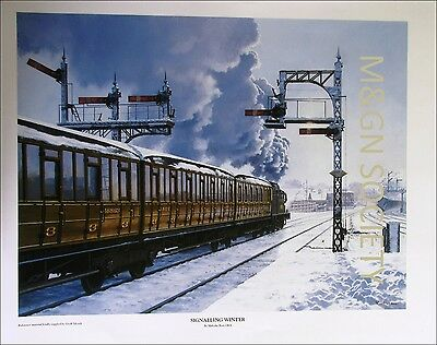 Signalling Winter, a Print by Malcolm Root GRA