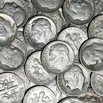 $1 Face Value - 90% Silver U.S. Coins - Roosevelt Dimes