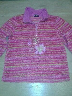 Girls Hot Pink Fleece Top by SeeSaw 9-12 Years