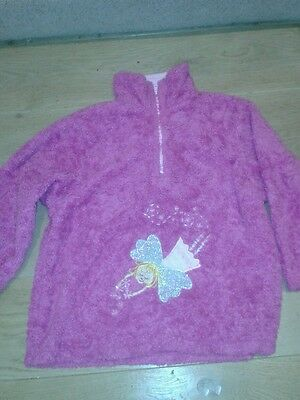 Girls Hot Pink Sparkly Fairy Fleece Top by SeeSaw 7/8/9 Years