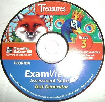 3rd Grade Macmillan McGraw Hill Treasures Exam View Assessment Suite Tests CD 3