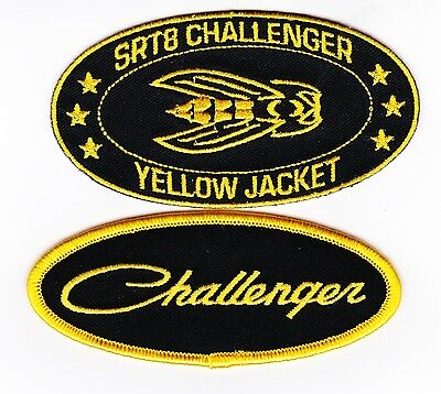 Dodge Challenger Yellow Jacket Sew/iron On Patch Embroidered Hemi Mopar 392 V8