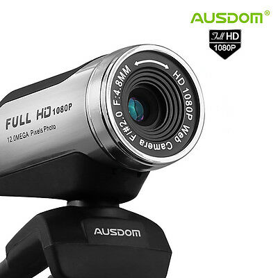 12.0 Mega Pixels 1080P HD USB 2.0 Video Camera Webcam Web Cam Mic for Skype PC