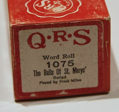 QRS Pianola Roll The Bells of St. Marys' 1075