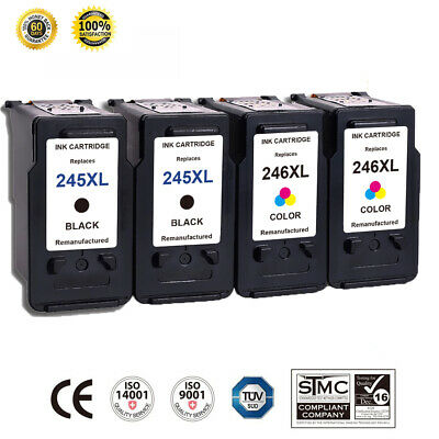 4 Pack For Canon PG-245XL CL-246XL Ink Cartridge PIXMA IP2820 MG2420 MG2450