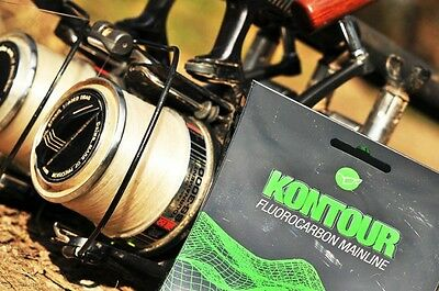 Korda Tackle - Kontour Fluorocarbon Carp Fishing Mainline - 12lbs BS, 200m spool