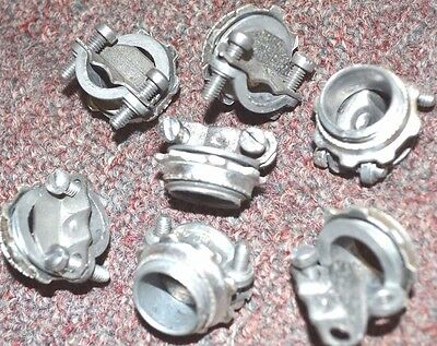 """100-PK Wagner Fittings 7715 BOX 3/8"""" 3/8in NM/SE CONNECTOR Twin-Screw Clamp NEW"""