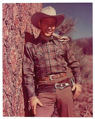 8x10 Glossy Photo of Roy Rogers Color Cowboy