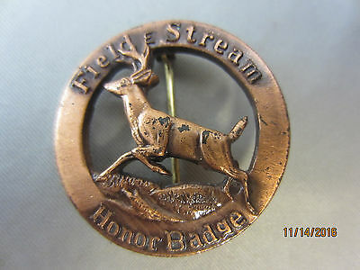 Field & Stream HONOR AWARD BADGE Whitetail Deer Vintage Pin Collectible RARE