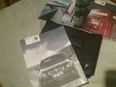 BMW 5 SERIES E60 SALOON & E61 TOURING  OWNERS MANUAL HANDBOOK wallet pack