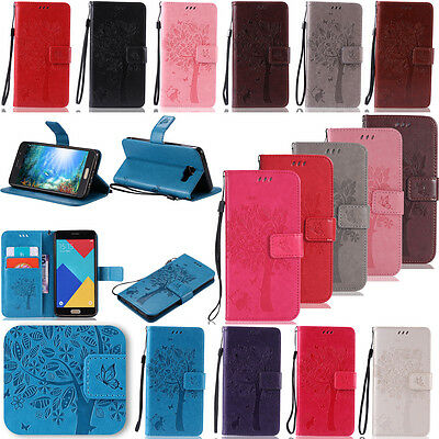 -KMKT Embossing Leather Case Cover For Samsung Galaxy S3 S4 S5 S6 S7 Edge C5000