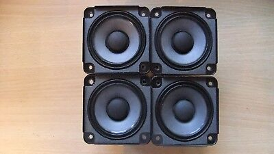 4 X Bose Drivers Loud Speakers Full Range 2.55 inch 4.6 Ohm, 30 Watts RMS