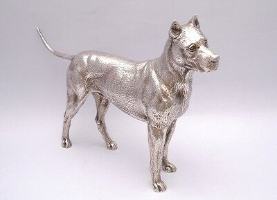 LARGE SOLID SILVER DOG. WEIGHT: 778 grams / 27 ounce. LENGTH  29 cm / 11 inch