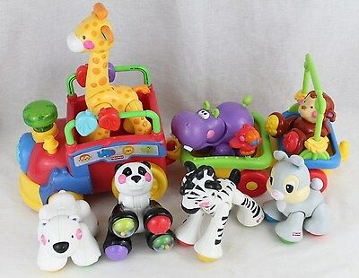 Fisher Price SING & GO CHOO CHOO TRAIN Lot of 7 Amazing Animals Clicking Sounds