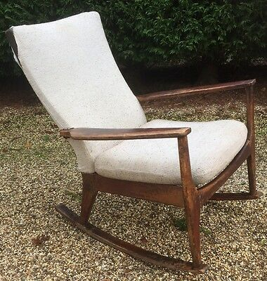 Retro Parkerknoll Rocking Chair Restoration Project Delivery Available