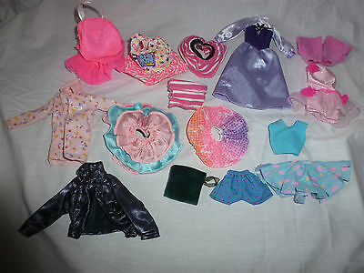 Vintage Barbie Doll Clothes Lot~15 Piece~Dress~Skirts~Shirts~