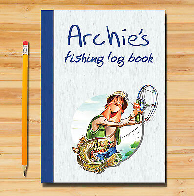 A5 FISHING LOG BOOK// DAILY FISHING DIARY// A5 PERSONALISED FISHERMAN/'S GIFT//NEW 1