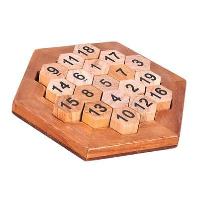 Wooden Kong Ming Luban Lock IQ Digital Number Puzzle Game Intelligence Toys