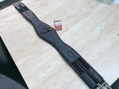 """New 38"""" black leather Shires comfort girth"""