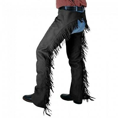 Tough-1 Synthetic Suede Chaps Black XS Horse Tack 63-325