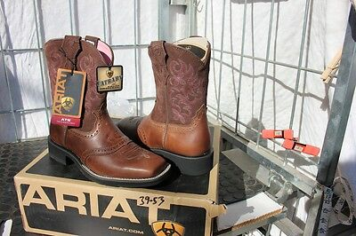 39-53 New Ariat WOMENS 6B Fat Baby Brown Rebel western boots was 179.00
