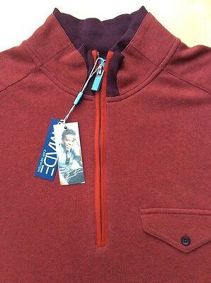 new product cd76d 5b001 MADE BY CAM NEWTON Dark Gray 1/4 Zip COTTON SWEATER SZ Large ...