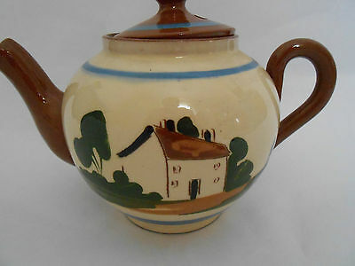 Watcombe Teapot  Cottage.  Pottery Torquay  Motto Ware  VINTAGE  PERFECT