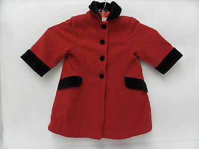 Marks And Spencers Wool/laine Girls Winter Warm Coat