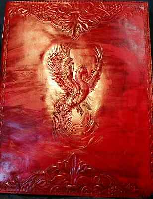 Leather Embossed Phoenix Journal 10x13