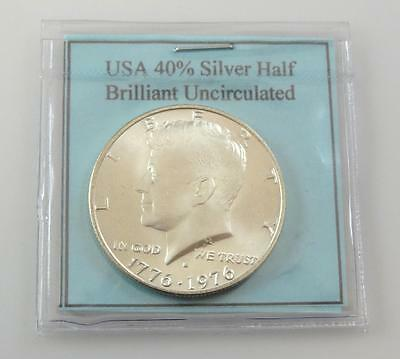 1776-1976-S PROOF SILVER KENNEDY HALF DOLLAR  IN MINT CAPSULE  #af