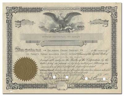 Southern Pennsylvania Bus Company Stock Certificate