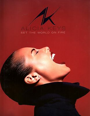 Alicia Keys 2013 Set The World On Fire Tour Concert Program Book